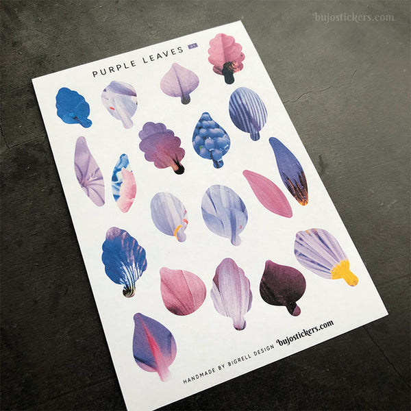 Purple Leaves stickers No 01