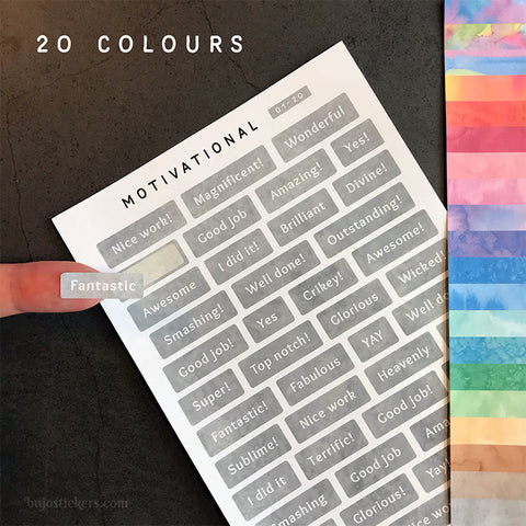 Motivational 01 – 20 colours