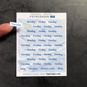 Weekdays SWEDISH 04 – Veckodagar
