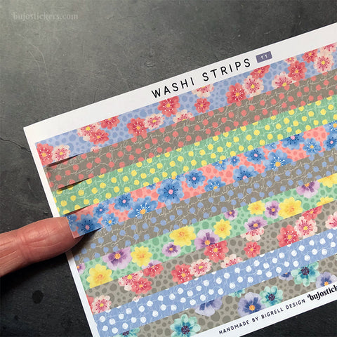 Washi strip stickers No 11
