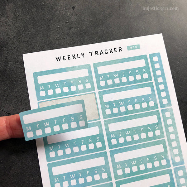 Weekly Tracker 01 – Monday or Sunday start – 20 colours