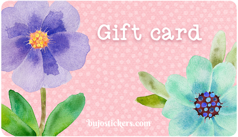 Bujostickers gift card