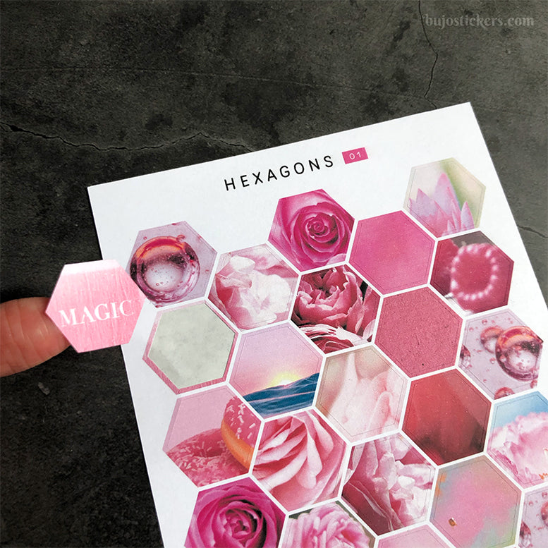 Hexagon stickers No 01