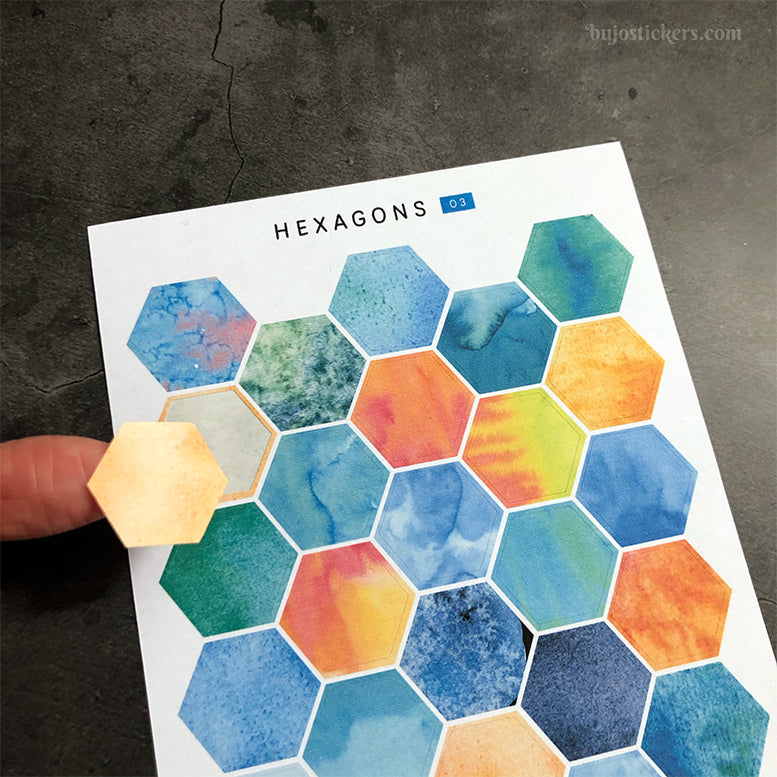 Hexagon stickers No 03