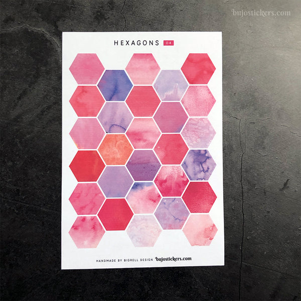 Hexagon stickers No 04