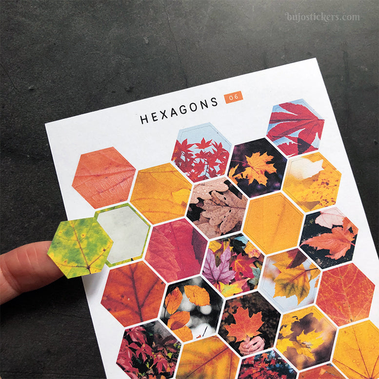 Hexagon stickers No 06
