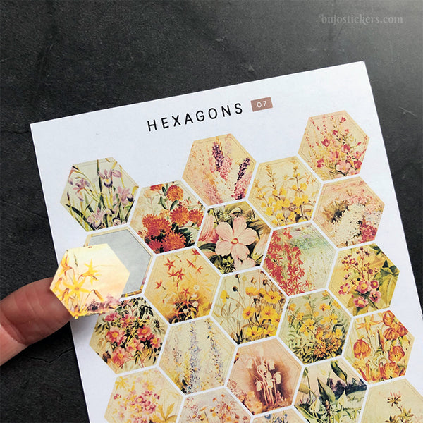 Hexagon stickers No 07