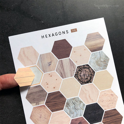 Hexagon stickers No 08
