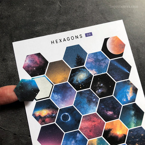 Hexagon stickers No 09