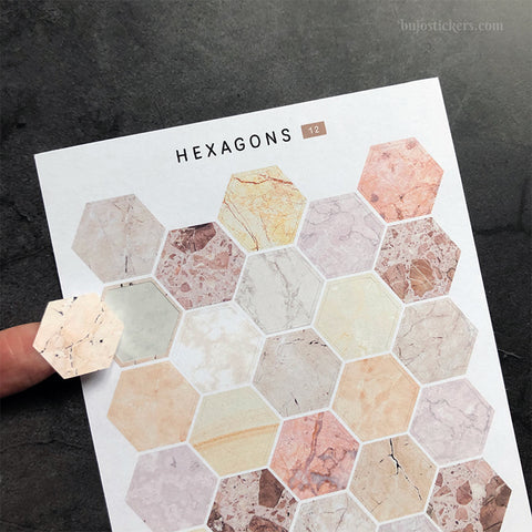 Hexagon stickers No 12