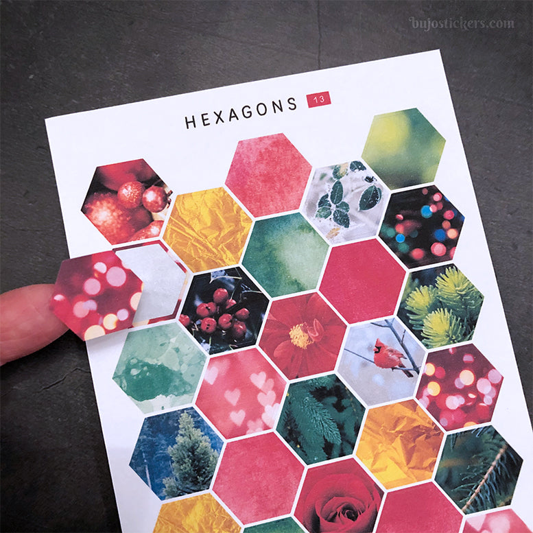 Hexagon stickers No 13