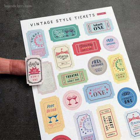 Vintage Style Tickets Volume 1