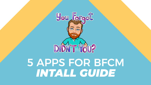 5 Easy Things to do before BFCM