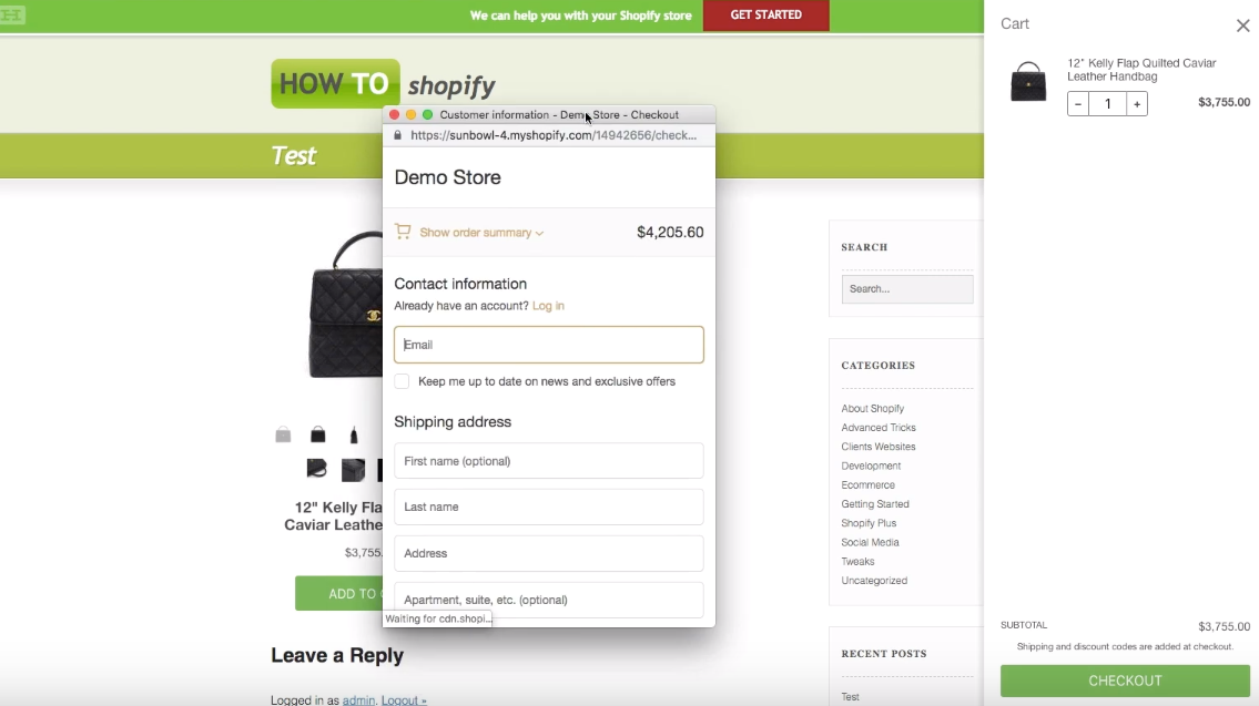 How to Create a Buy Button and a Checkout Page inside