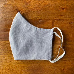 Handmade Face Mask w/Insert Slot - Gray Cotton Fabric Washable Reusable Eco-Friendly