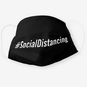 #SocialDistancing Face Mask - Reusable Cloth Cover
