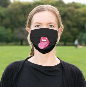 Tongue and Lips Face Mask - Reusable Cloth Cover