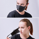 Load image into Gallery viewer, Dust-Proof Antibacterial Polyurethane Face Mask with Breathing Valve - Charcoal Gray