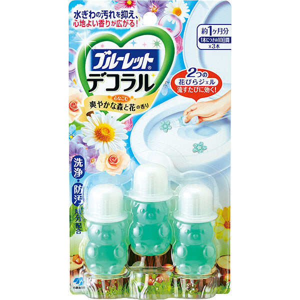 Bluelet toilet bowl cleaner (Wood&Floral) /ブルーレットデコラル(森と花の香り) - Konbiniya Japan Centre