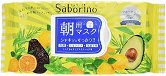 Saborino Morning Face Mask (Fruity herb scent) / サボリーノ朝用マスク (フルーティハーブの香り) 32sheets - Konbiniya Japan Centre