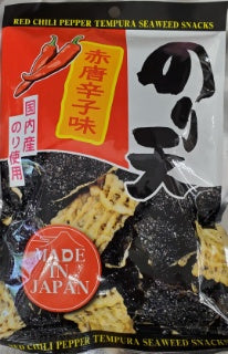 Nori Ten REd Chili  Pepper Tempura Seaweed Snacks / のり天 赤唐辛子味 40g - Konbiniya Japan Centre