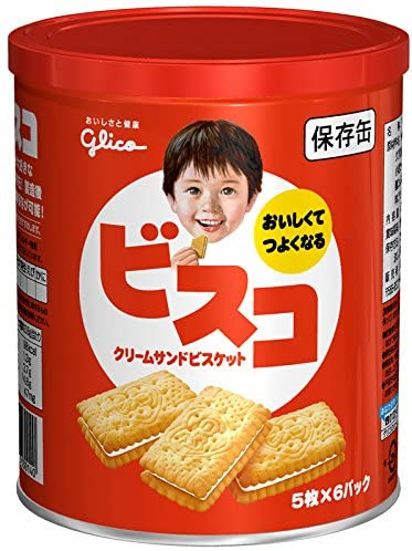 Bisco Cream Biscuit / ビスコ  5pcs x 6packs in can - Konbiniya Japan Centre