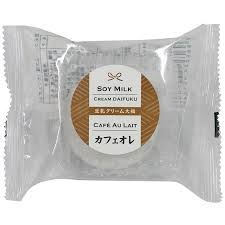 Soy Milk Cream Daifuku Cafe Au Lait / 豆乳クリーム大福 カフェオレ  60g - Konbiniya Japan Centre