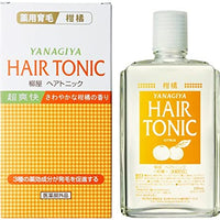 Yanagiya Medical Hair Growth Tonic Super Refreshing (Citrus) / 薬用育毛 ヘアートニック (柑橘) 240ml - Konbiniya Japan Centre