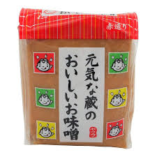 Oishii Miso Soy Bean Paste (Red) / 元気な蔵のおいしいお味噌 (赤)500g - Konbiniya Japan Centre