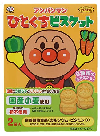 Anpanman One Bite Biscuits / アンパンマン ひとくち ビスケット 2pcs 72g - Konbiniya Japan Centre