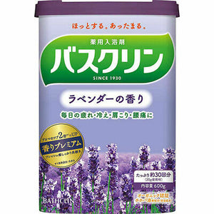 Bathclin (Bath Agents) Lavender / バスクリン ラベンダーの香り 600g (30 times) - Konbiniya Japan Centre