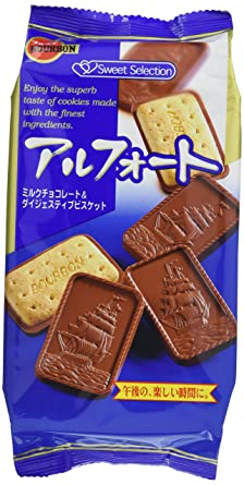 Alfort (Chocolate Coated Cookies) / アルフォート 10pcs 100g - Konbiniya Japan Centre