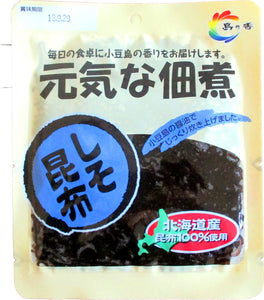 Tsukudani (Seaweed Boiled in Soy Sauce) with Shiso & Kelp / 元気な佃煮 しそ昆布 100g - Konbiniya Japan Centre