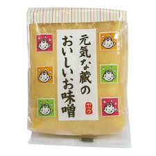 Oishii Miso Soy Bean Paste(White) / 元気な蔵のおいしいお味噌(白)500g - Konbiniya Japan Centre