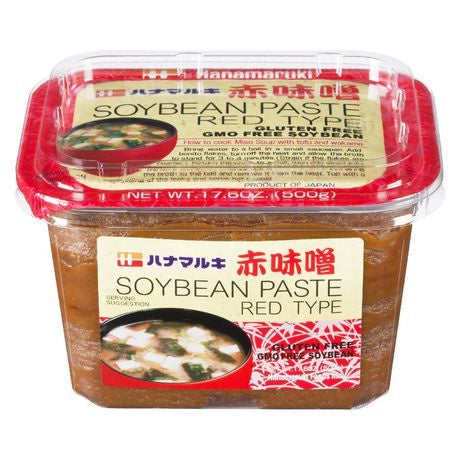 Red Soy Bean Paste / 赤味噌 500g - Konbiniya Japan Centre