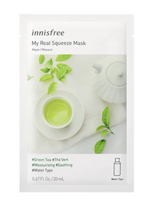 Real Squeeze Mask Green Tea/リアルスクイーズマスク 緑茶 - Konbiniya Japan Centre