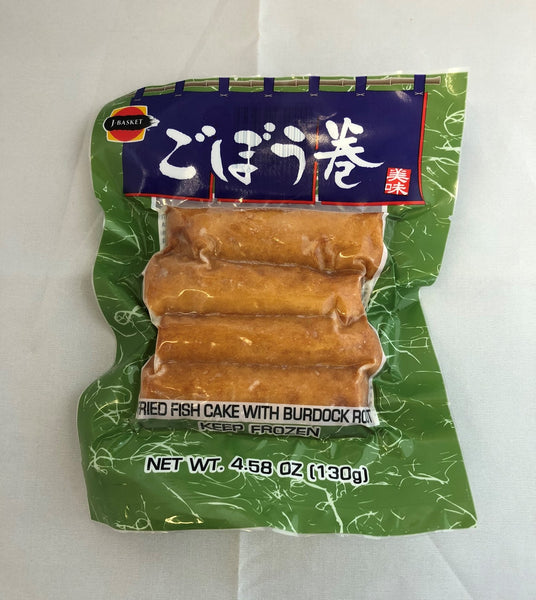 Fried Fish Cake with Burdock Root /  ごぼう巻 130g - Konbiniya Japan Centre