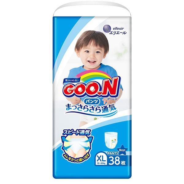 GOON Baby Diaper Pants XL 38ps for Boys グーンパンツ男の子用 - Konbiniya Japan Centre