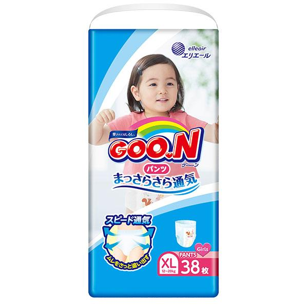 GOON Baby Diaper Pants XL 38ps for Girls グーンパンツ女の子用 - Konbiniya Japan Centre
