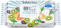 Saborino Morning Face Mask (Kiwi yogurt scent) / サボリーノ朝用マスク (キウイヨーグルトの香り)28sheets - Konbiniya Japan Centre
