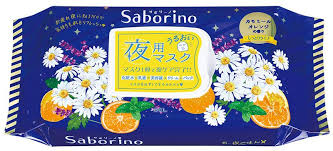 Saborino Night Face Mask (Chamomile Orange scent) / サボリーノ夜用マスク (カモミールオレンジの香り) 28sheets - Konbiniya Japan Centre