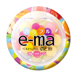 e-ma Cough Drops Mixed Fruits / e-ma のど飴 フルーツチェンジ 33g - Konbiniya Japan Centre
