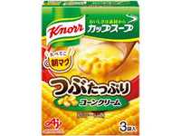Knorr Tsubu Tappuri Corn Cream Soup / つぶたっぷり コーンクリームスープ  3 pcs - Konbiniya Japan Centre