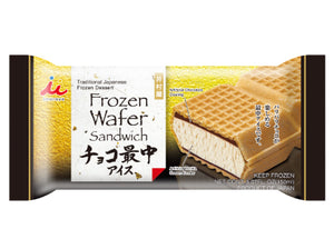 Frozen Wafer Sandwich Vanilla / 冷凍 チョコ最中アイス 150ml - Konbiniya Japan Centre