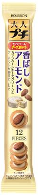 Petit Adult Cheese Okaki Almond/ プチ大人 チーズおかき アーモンド 28g - Konbiniya Japan Centre