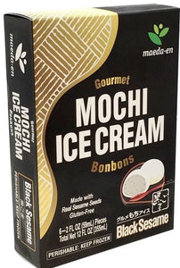 Mochi Ice-Cream Black Sesame / もちアイス 黒ゴマ 6pcs - Konbiniya Japan Centre