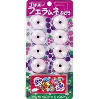 Whistle Candy Grape with Toy / フエラムネ ぶどう 8pcs 22g - Konbiniya Japan Centre