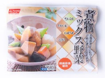 JA Foods Frozen Boiled mixed vegetables / 冷凍 煮物ミックス野菜 日本産200g - Konbiniya Japan Centre