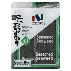 Nico-Nico Nori Seasoned Seaweed / 味おかずのり (8sheets×8packs) - Konbiniya Japan Centre