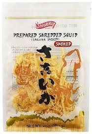 Prepared Shredded Squid Smoked / さきいかスモーク  170.1g - Konbiniya Japan Centre